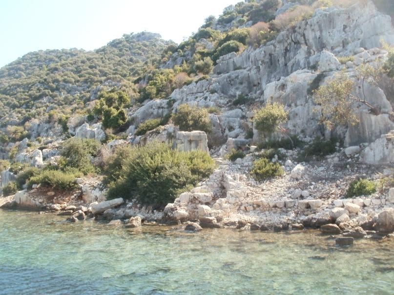 Мои путешествия. Елена Руденко. Турция. Средиземное море. Экскурсия на яхте.  2011 г.  Y_29037488