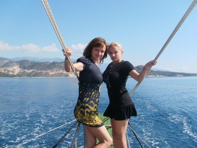 Мои путешествия. Елена Руденко. Турция. Средиземное море. Экскурсия на яхте.  2011 г.  Y_34d85d8d