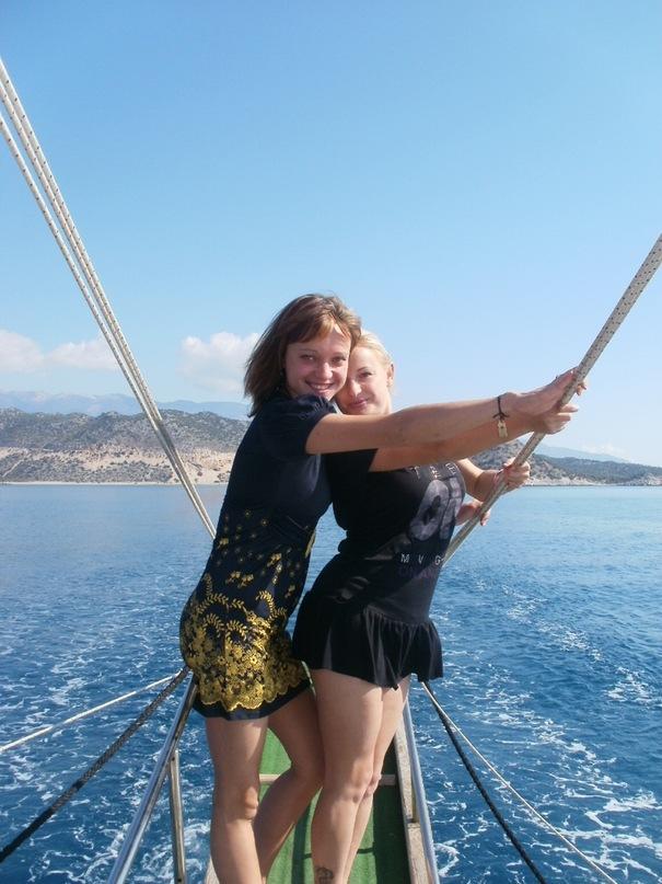 Мои путешествия. Елена Руденко. Турция. Средиземное море. Экскурсия на яхте.  2011 г.  Y_404b1414