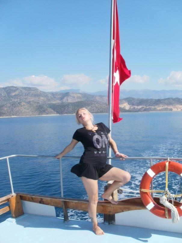 Мои путешествия. Елена Руденко. Турция. Средиземное море. Экскурсия на яхте.  2011 г.  Y_476ba549