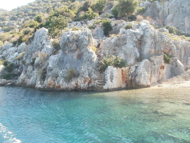 Мои путешествия. Елена Руденко. Турция. Средиземное море. Экскурсия на яхте.  2011 г.  Y_ddf16107