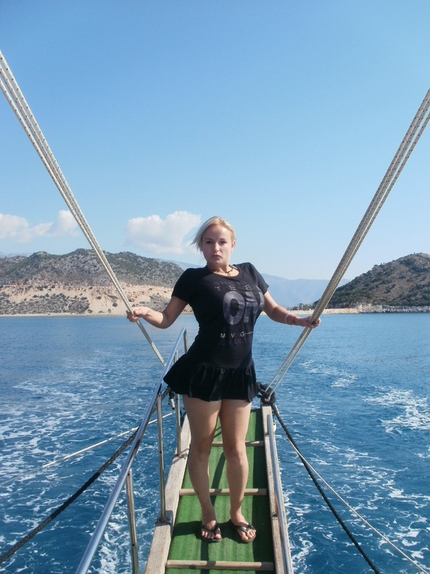 Мои путешествия. Елена Руденко. Турция. Средиземное море. Экскурсия на яхте.  2011 г.  Y_e3211ecd