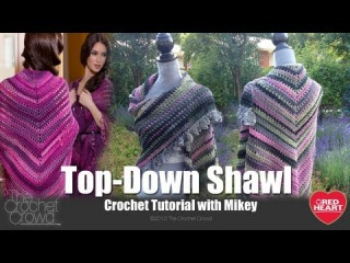 Left Hand Crochet: Top Down Shawl Crochet Tutorial