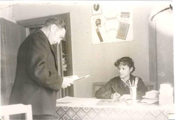 1950-е на абонементе библиотеки им. Достоевского на Торговой площади