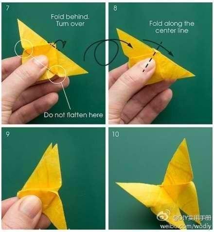 Бабочка из бумаги пошаговая инструкция