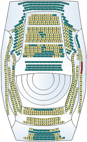 Схема концертного зала