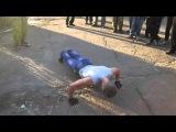 Открытие площадки для занятий Street Workout в г.Лутугино - Отжимания от пола №1