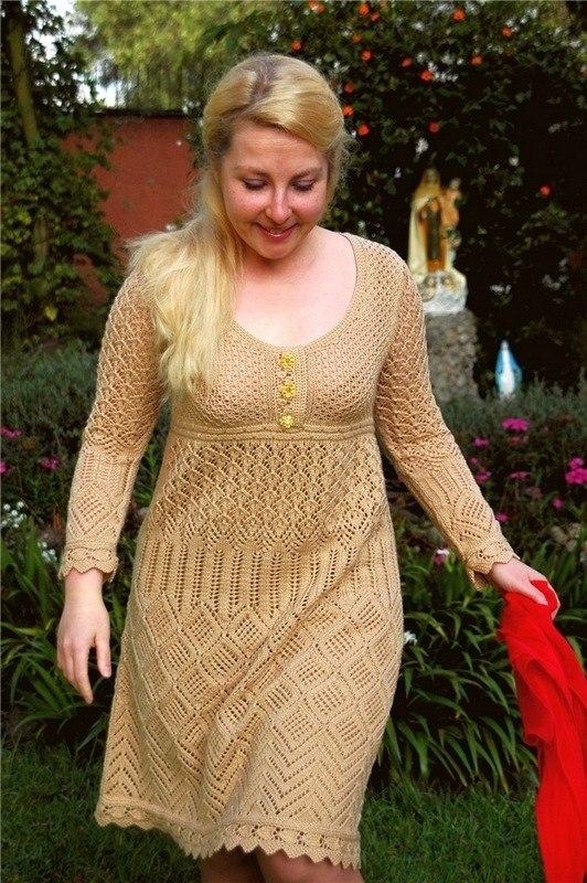 Платье Спицами Большого Размера