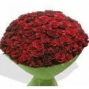 Состав: 101 голландская роза длинной 80 см, упаковка.
