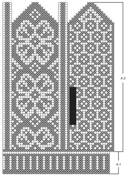 Узоры для вязания на варежках 225