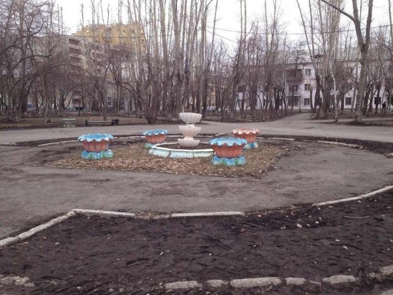Новая жизнь парка: урны-метеориты, кратер и холм, фонари со звездами 2