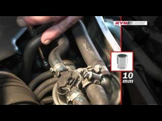 Audi A4 (8D) - правильная замена передних стоек KYB (KAYABA)