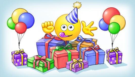 смайлики с днем рождения картинки:
