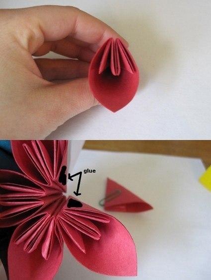 Цветы из бумаги.  Автор: Рукодельник.  Рубрика.