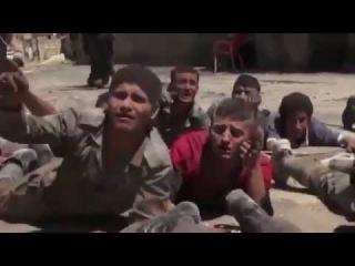 Мгновения перед казнью 51 солдата в Хан аль-Ассаль. Июль 2013.