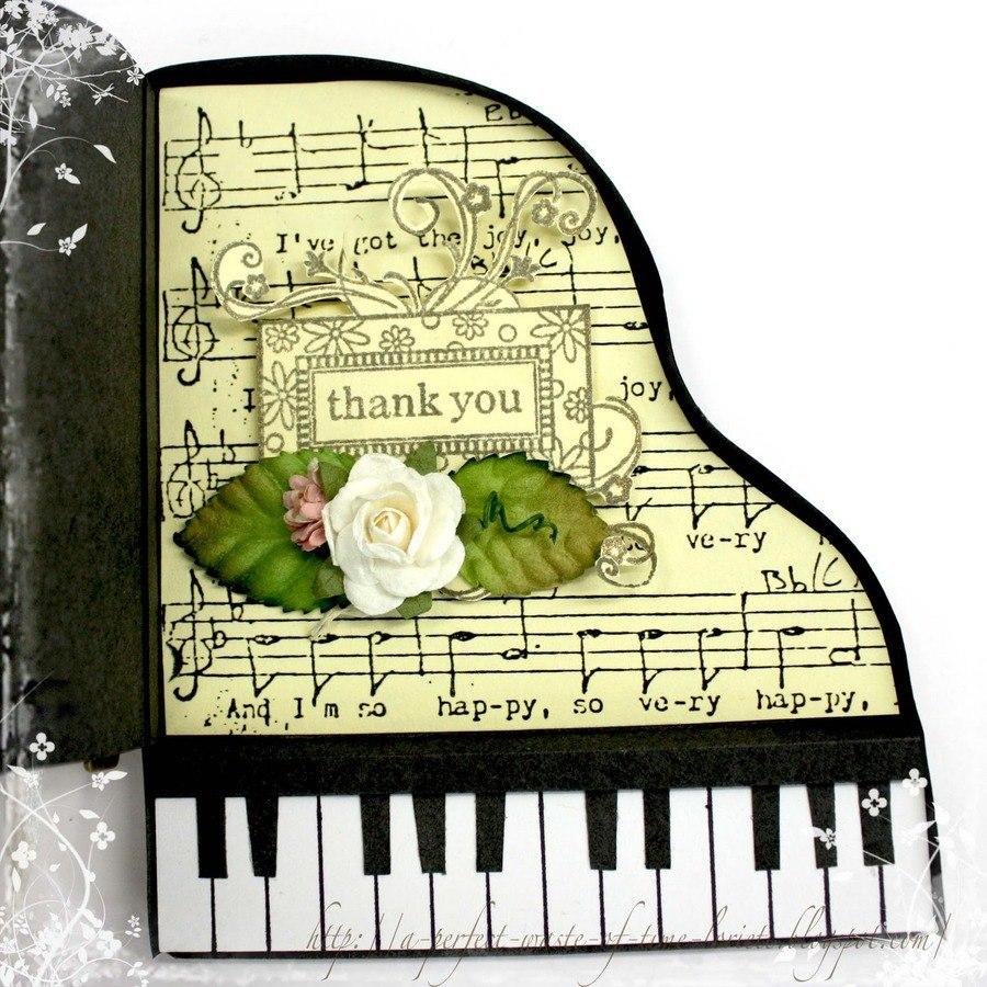 Сделать открытку музыкальную с днем рождения