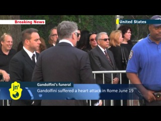 James Gandolfini funeral: friends, family and celebrities hail actor famed as mob boss Tony Soprano