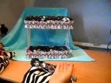 как сделать кровать двух-ярусную для кукол своими руками