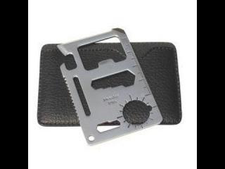 Multi Emergency Outdoor Survival Pocket Knife Tool Function Credit Card Steel