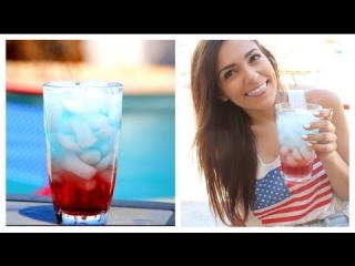 Make layered drinks for Fourth of July!