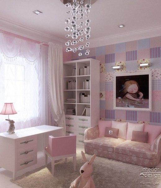Chandelier girls bedroom