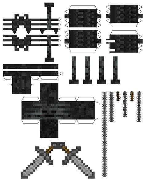 Minecraft Papercraft Skeleton Cake Ideas And Designs