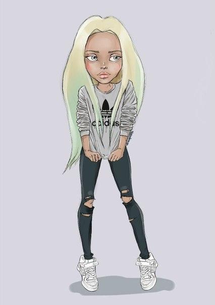 Картинки девушка в стиле swag