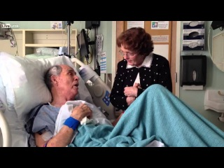 Old Couple Sing Together While Husband Lays Dying in Bed