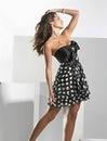 Коллекция вечерних платьев в горошек на выпускной 2012.