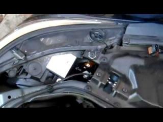 BMW E60 замена ламп ангельских глазок без снятия фары