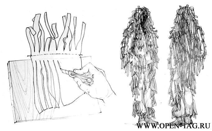 Маскировочные костюмы леший своими руками