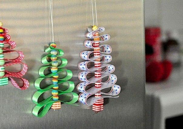 Ёлочные игрушки из оригами своими руками