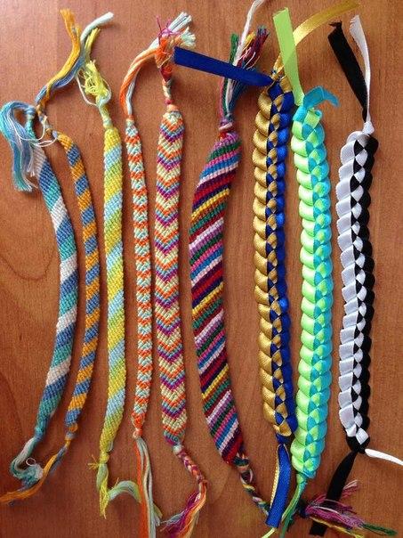 как делать фенечки из ниток
