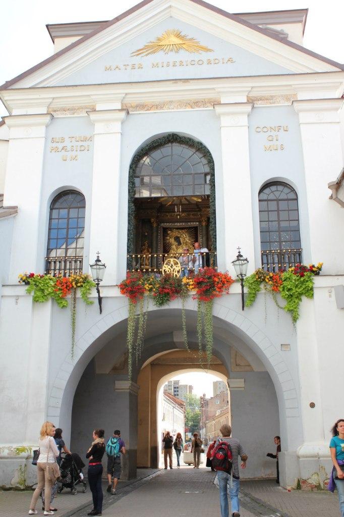 Вильнюс, острые врата, икона Остробрамская