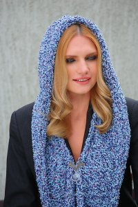 Круговой шарф капюшон вязание - Женская логика.