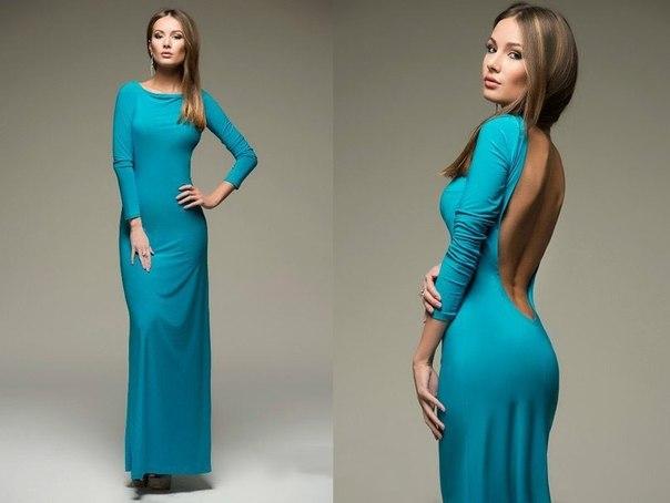 Нажмите, чтобы увеличить фото платье голубое с открытой спиной dm00049bl.
