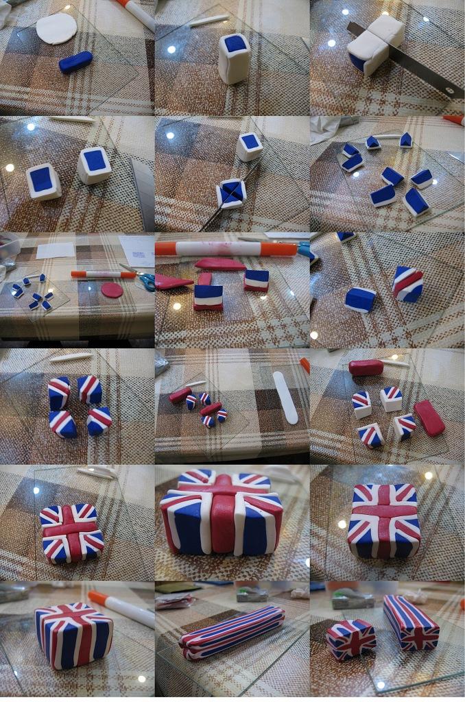 британский флаг из полимерной глины