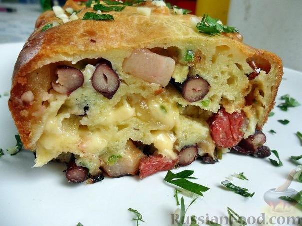 кекс с сыром и колбасой фото рецепт