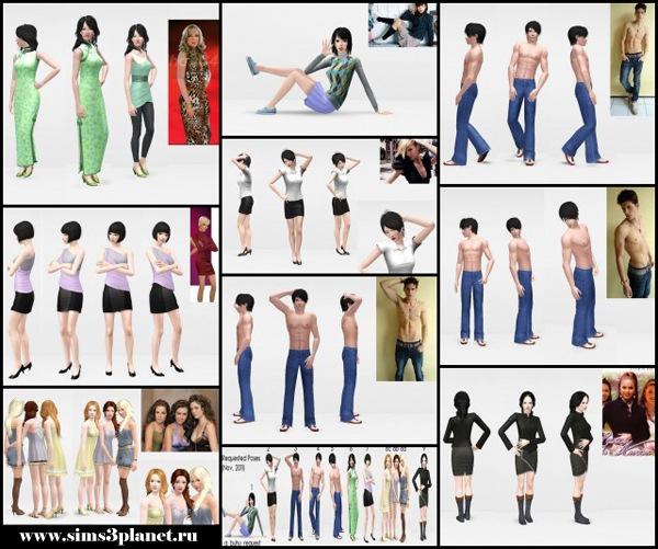 Various Poses by Buhudain