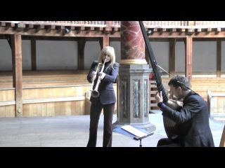 Alison Balsom performs at Shakespeare's Globe