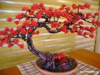 Дом и ремонт: Дерево из бисера - украсьте дом цветами!