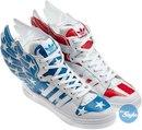 Новая круг обуви Джереми Скотта (Jeremy Scott) к Adidas Originals.