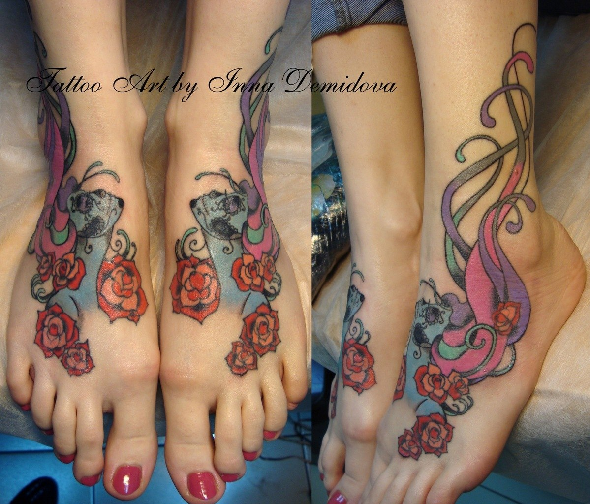 Татуировки на ноге для девушек фото с значение