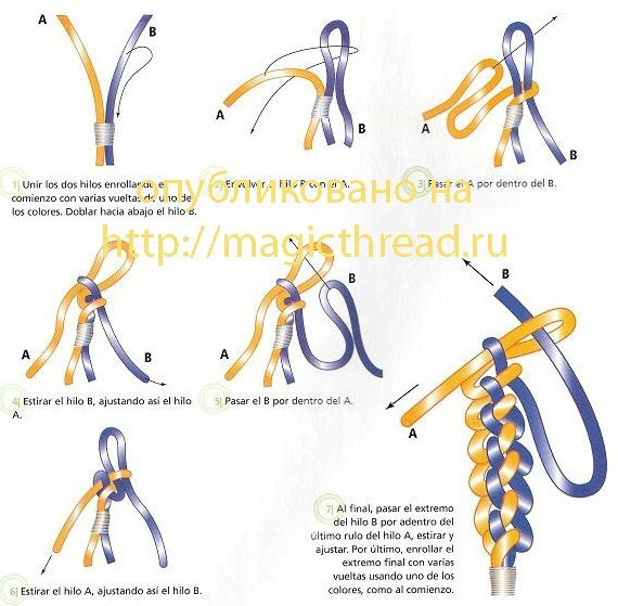 Как плести макраме схема браслетов