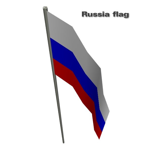 Russia flag by CFP