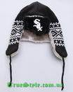 New Era.  Головной убор Chicago white sox team trapper knit cap.