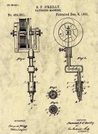 В 1891 году нью-йоркский татуировщик Самуэль О'Райли (Самюэль О'Рэйли) изобрёл электрическую машинку для татуировки.