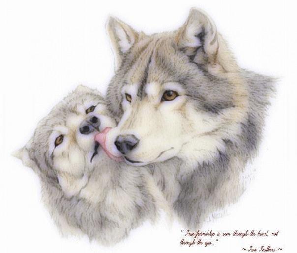Оригинал - Схема вышивки Волки