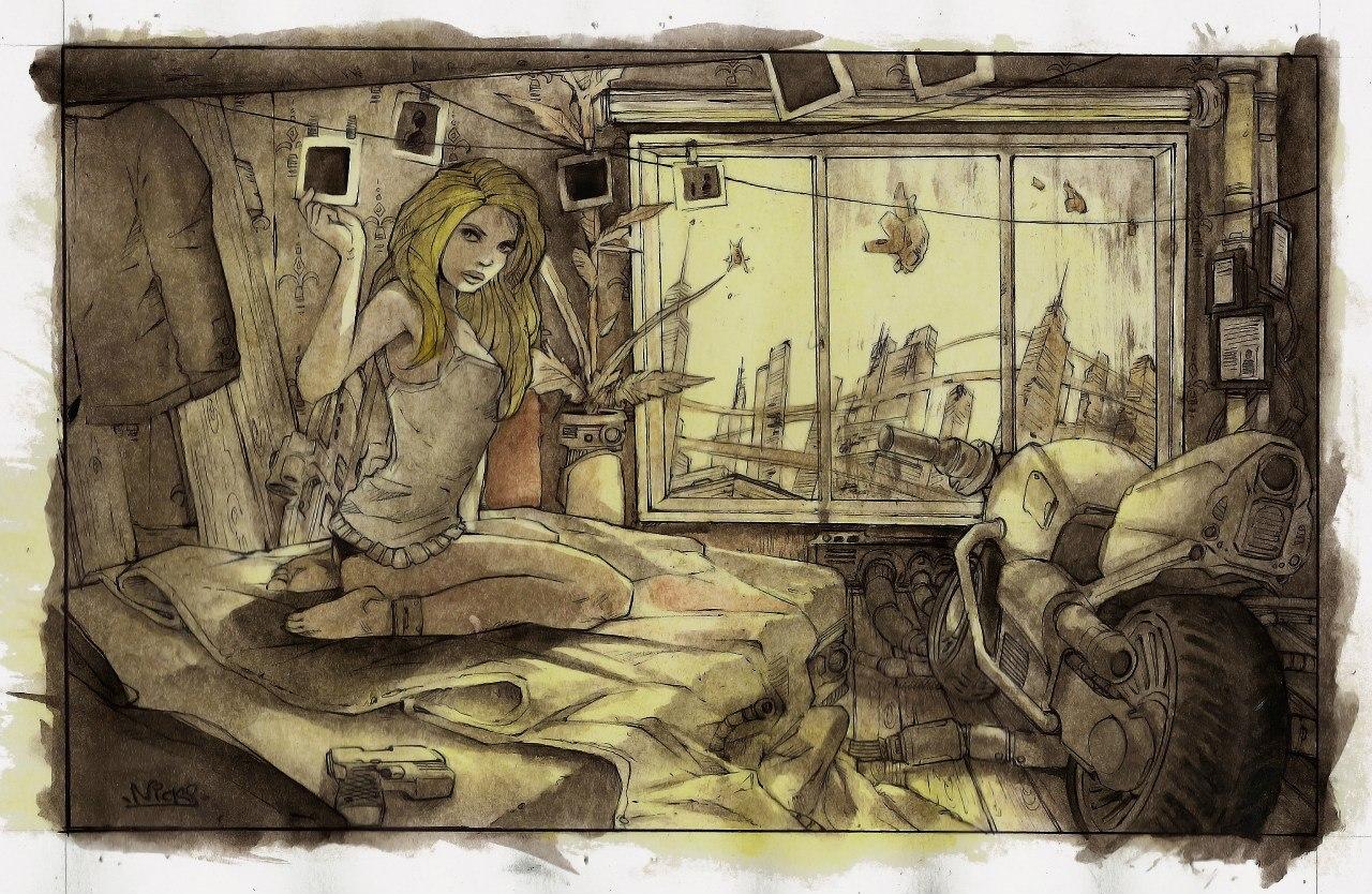 связанные девушки рисунки: