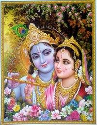 """Схема вышивки  """"Радха-Кришна """": таблица цветов."""